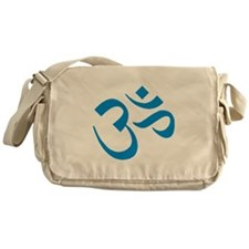 Om Symbol Blue Messenger Bag