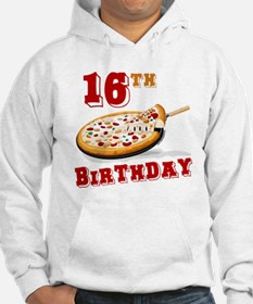 16th Birthday Pizza Party Hoodie