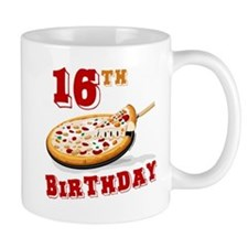 16th Birthday Pizza Party Mug