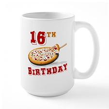 16th Birthday Pizza Party Mug