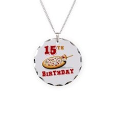 15th Birthday Pizza Party Necklace