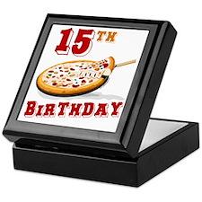 15th Birthday Pizza Party Keepsake Box
