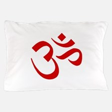 Om Symbol Red Pillow Case