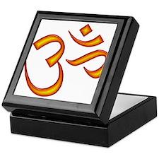 Om Symbol Orange Keepsake Box
