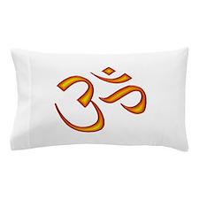 Om Symbol Orange Pillow Case