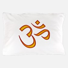 Om Symbol Orange Pillow Case