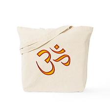 Om Symbol Orange Tote Bag