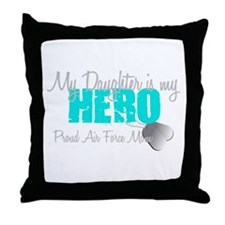 AF Mom Daughter is my Hero Throw Pillow