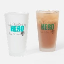 AF Mom Daughter is my Hero Drinking Glass