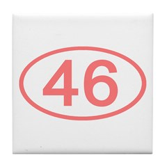 Number 46 Oval Tile Coaster