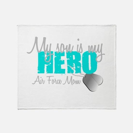 AF Mom Son is my Hero Throw Blanket