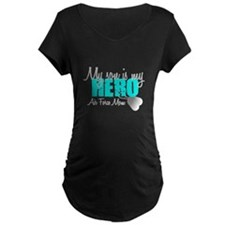 AF Mom Son is my Hero Maternity T-Shirt