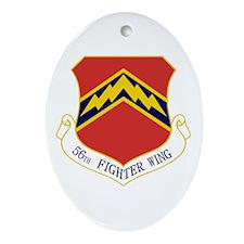 56th FW Ornament (Oval)