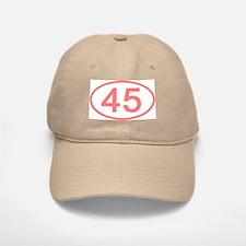 Number 45 Oval Baseball Baseball Cap