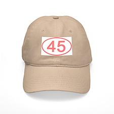 Number 45 Oval Baseball Cap