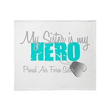 AF Sister is my hero Throw Blanket