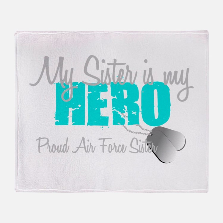 AF Sister is my hero Throw Blanket