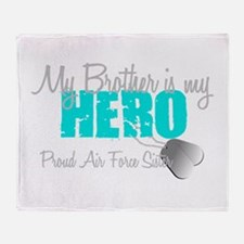 AF Sister Brother is my hero Throw Blanket