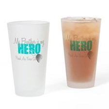 AF Sister Brother is my hero Drinking Glass