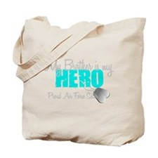 AF Sister Brother is my hero Tote Bag