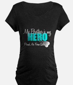 AF Sister Brother is my hero Maternity T-Shirt
