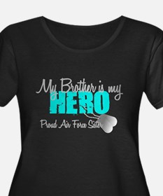 AF Sister Brother is my hero Plus Size T-Shirt