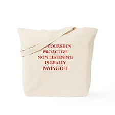 ignoring Tote Bag