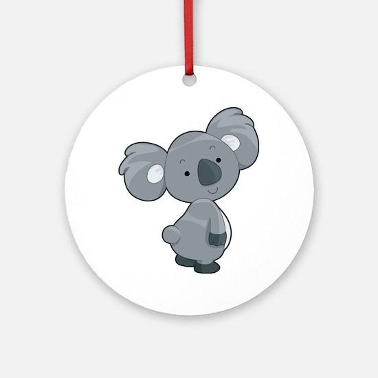 Cute Gray Koala Ornament (Round)