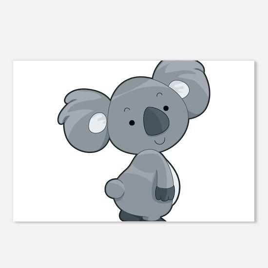 Cute Gray Koala Postcards (Package of 8)