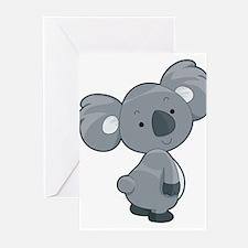 Cute Gray Koala Greeting Cards (Pk of 20)