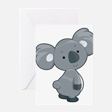 Cute Gray Koala Greeting Card