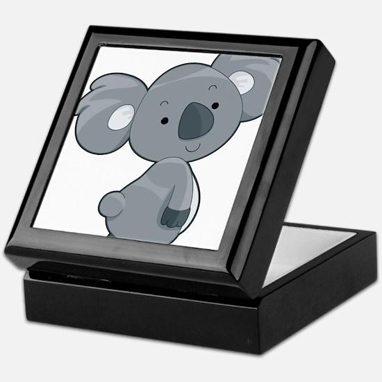 Cute Gray Koala Keepsake Box