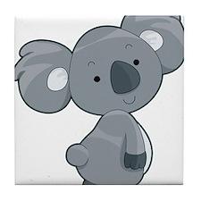 Cute Gray Koala Tile Coaster