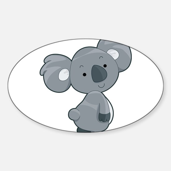 Cute Gray Koala Decal