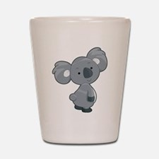 Cute Gray Koala Shot Glass