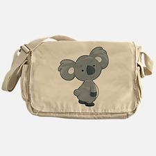 Cute Gray Koala Messenger Bag