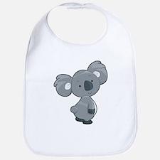 Cute Gray Koala Bib