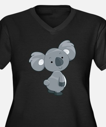Cute Gray Koala Plus Size T-Shirt