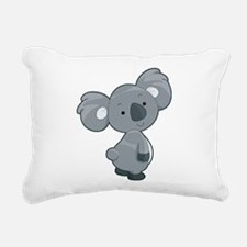 Cute Gray Koala Rectangular Canvas Pillow