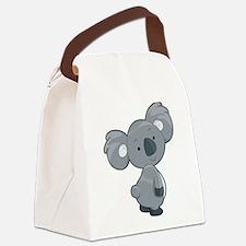 Cute Gray Koala Canvas Lunch Bag