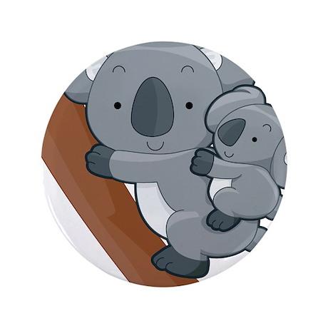 """Two Koalas 3.5"""" Button"""