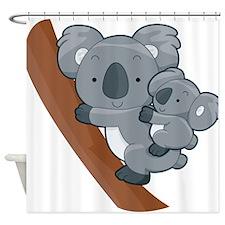 Two Koalas Shower Curtain