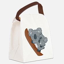 Two Koalas Canvas Lunch Bag