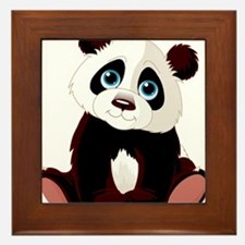 Baby Panda Framed Tile