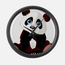 Baby Panda Large Wall Clock