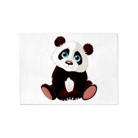 Baby Panda 5u0027x7u0027Area Rug