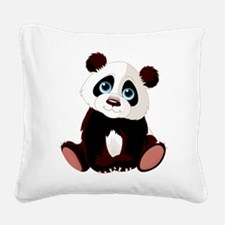 Baby Panda Square Canvas Pillow