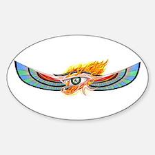 Egyptian Eye Of Horus Oval Decal