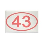 Number 43 Oval Rectangle Magnet (10 pack)