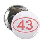 Number 43 Oval Button